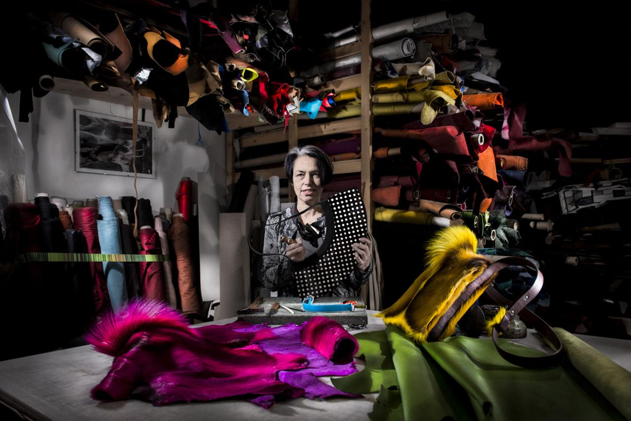 Créatrice en maroquinerie à Genève / Carouge Christiane murner