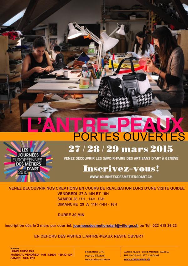 L'Antre-Peaux portes ouvertes 27 / 28 / 29 mars 2015